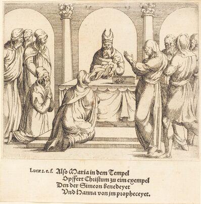 Augustin Hirschvogel, 'The Presentation in the Temple', 1549