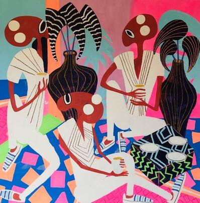 Frantisek Florian, 'African figures 23', 2018