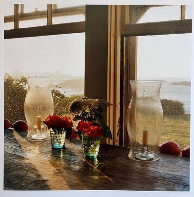 Peter C. Jones, 'Last Light Nasturtiums, Large Format Photo 24X20 Color Photograph Beach House RI', 2000-2009