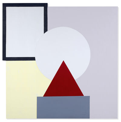 John Goodyear, 'Red Triangle on Gray', 2018