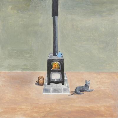 Noel McKenna, 'Grey Cat beside Stove', 2016