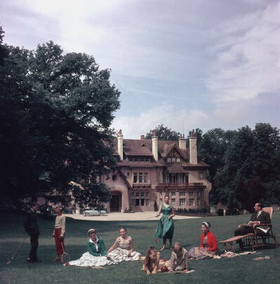 Slim Aarons, 'The Comte de Paris, pretender to the French throne, with his wife the Comtesse and their children at their home, the Manoir du Coeur Volant, Louveciennes, France', 1956