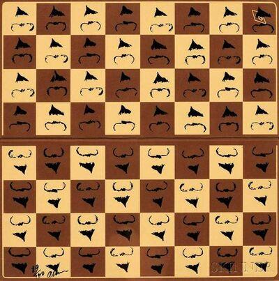 Fernandez Arman, 'Chessboard in Hommage to Marcel Duchamp's L.H.O.O.Q.', 1973