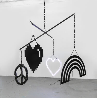Wendy White, 'Mobile (Double Happiness)', 2021