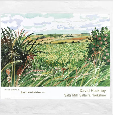 David Hockney, 'A Gap in the Hedgerow', 2004