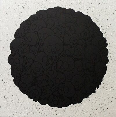 Takashi Murakami, 'TM/KK For BLM. Black Flowers and Skulls Round', 2020