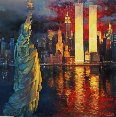 Christopher Zhang, 'Statue of the Liberty - The Night Before 9/11', 2020