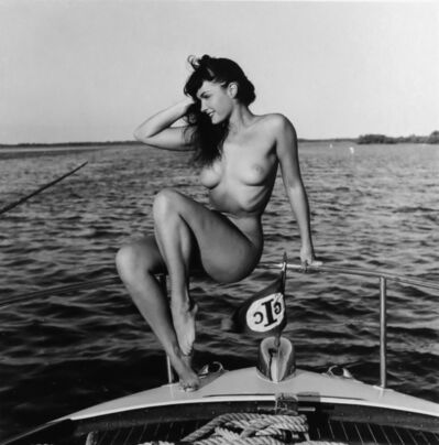Bunny Yeager, 'Bettie Page (sailboat)', 1954