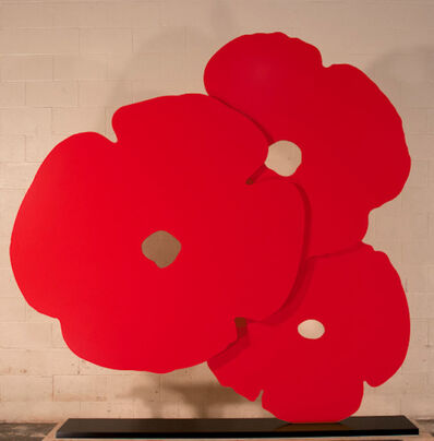 Donald Sultan, 'Donald Sultan, Big Red Poppies, 2015', 2015