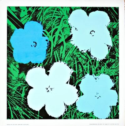 Andy Warhol, 'Flowers (Blue and White)', ca. 1975