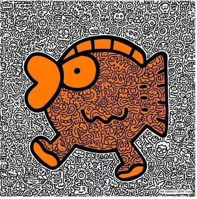 Mr. Doodle, 'Orange Fish', 2019