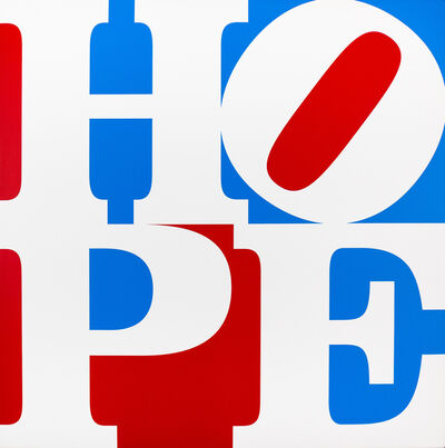 Robert Indiana, 'HOPE White/Blue/Red', 2017
