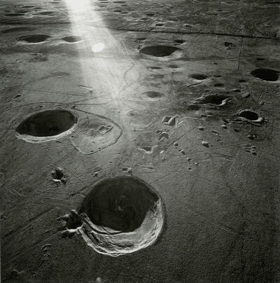 Emmet Gowin, 'Subsidence Craters, Looking Southeast From Area 8, Yucca Flat, Nevada Test Site', 1996