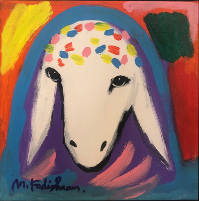 Menashe Kadishman, 'Red Sheep', ca. 1990