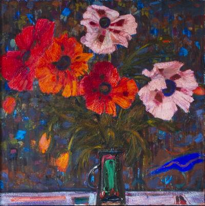 Robin Philipson, 'Poppies on a Dark Ground'