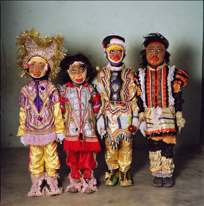 Phyllis Galembo, 'Four Children un Fancy Dress, Nobles Masquerade Group, Ghana', 2009