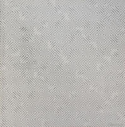 François Morellet, '2 trames de chevrons-positif, 1959 - Handsigned silkscreen', 1959