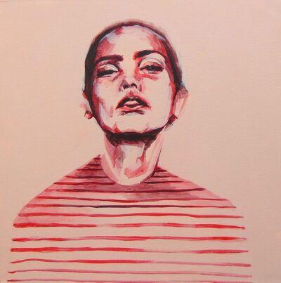 Flo Lee, 'Stripes, original signed great reviews vibrant portrait ', 2019