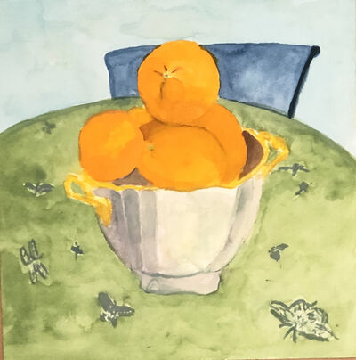 Charlie Scheips, 'Oranges in a Lenox Bowl', 2020
