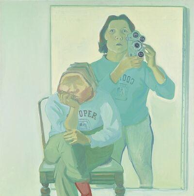 Maria Lassnig, 'Doppelselbstporträt mit Kamera', 1974