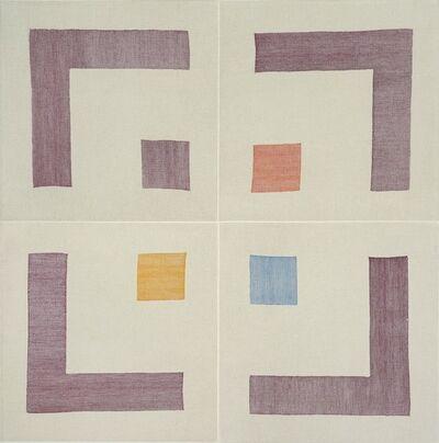 Ruth Laskey, 'PLAIN WEAVE GRID (SULFERINO VIOLET, VERMILLION RED, CERULEAN BLUE, INDIAN YELLOW)', 2015