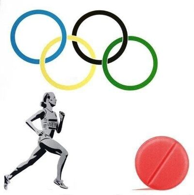 Pure Evil, 'New Logo for the Olympic Doping Team', 2016