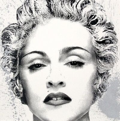 Mr. Brainwash, 'HAPPY B-DAY MADONNA (SILVER)', 2017