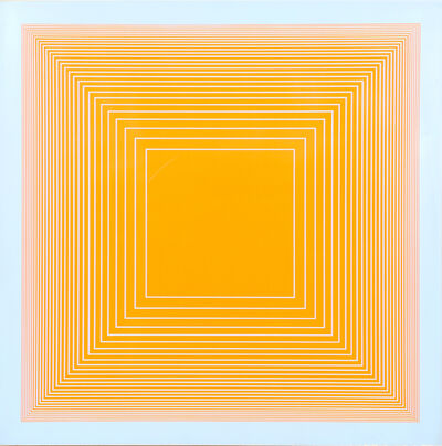 Richard Anuszkiewicz, 'Orange on Blue Square from Volumes: Variable Multiple', 1969