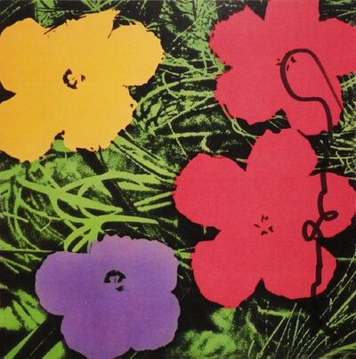 Andy Warhol, 'Flower Invitation for Galerie Sonnabend', 1970