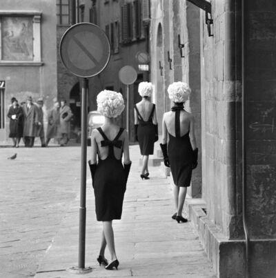 Norman Parkinson, 'Three Little Black Dresses, Queen', 1961