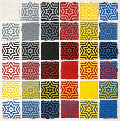 Sol LeWitt, 'Six pointed Stars', 1996