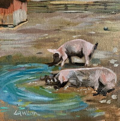 Megan Lawlor, 'Two Piglets', 2019