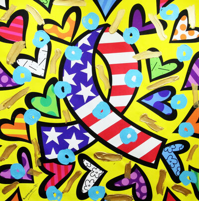 Romero Britto, 'What More/Give', 2018