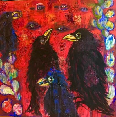 Laila Shawa, 'Blackbirds (The Watchers)', 2017