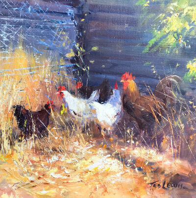 Ted Lewis, 'In the Chook Yard'