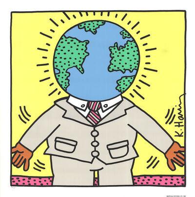 Keith Haring, 'Globe Man', 1990