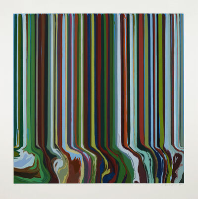 Ian Davenport, 'Green Fall', 2019