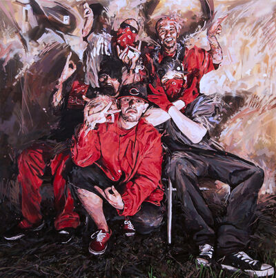 Michael Vasquez, 'Family Portrait in Red, White, and Black', 2015