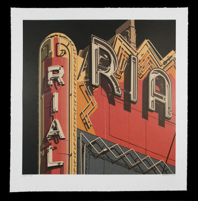 Robert Cottingham, 'Rialto, from American Signs Portfolio', 2009