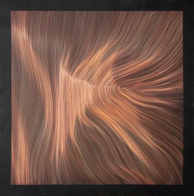 John Franzen, 'Each Line One Breath N° Black Copper 10', 2015