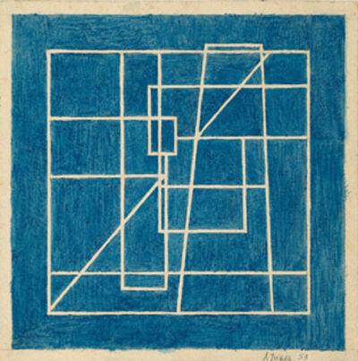 Alberto Teixeira, 'Composição linear', 1953