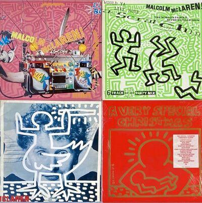 Keith Haring, 'Original Keith Haring Record Art: set of 4 (1980s Keith Haring album cover art)', 1982-1987