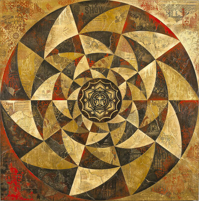 Shepard Fairey (OBEY), 'Lotus Spiral (Red)', 2013