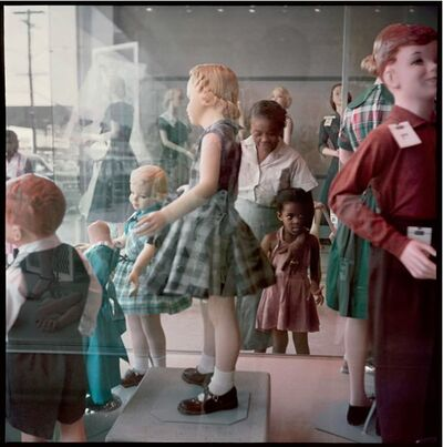 Gordon Parks, 'Ondria Tanner and Her Grandmother Window-shopping, Mobile, Alabama, 1956', 1956