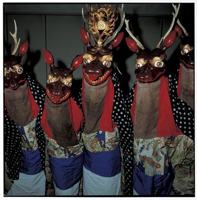 Masaru Tatsuki, 'Shikaodori (Deer Dance) in Natsuya Area, Kawai Village, October 2009, Miyako, Iwate Prefecture', 2009
