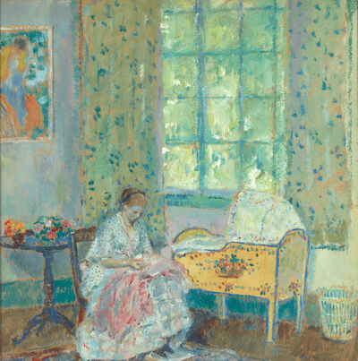 Frederick Carl Frieseke, 'In the Nursery', ca. 1917