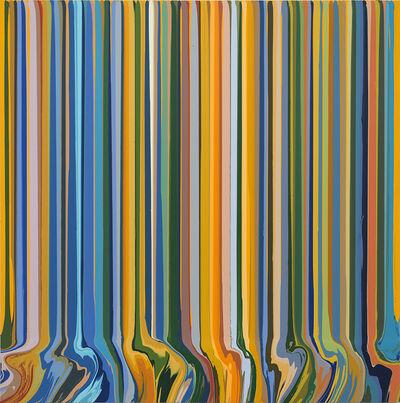 Ian Davenport, 'The Harvest Study (After Van Gogh)', 2018