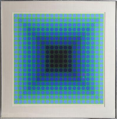 Victor Vasarely, 'CTA - Blue', 1965