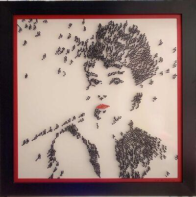 Efraim Mashiah, 'Audrey Hepburn - White Background', 2019