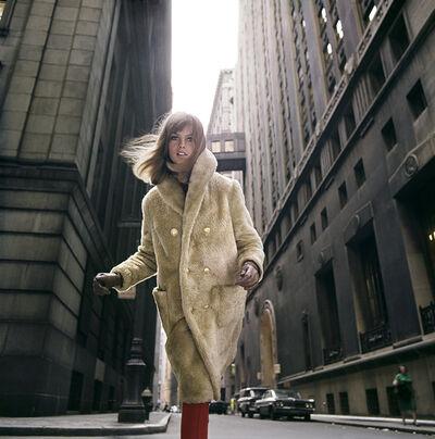 William Helburn, 'Jean Shrimpton, Wall Street, NY', 1964